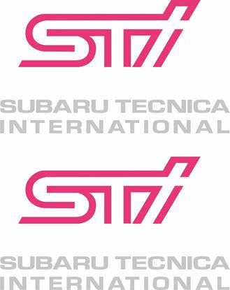 Picture of Impreza STi version 5 fog cover Decals / Stickers SILVER