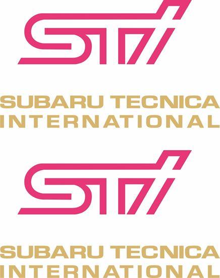 Picture of Impreza STi version 5 fog cover Decals / Stickers GOLD