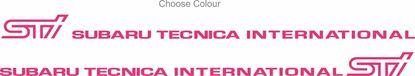 Picture of Impreza STi version 1 - 4 Door Decals / Stickers PICK COLOUR