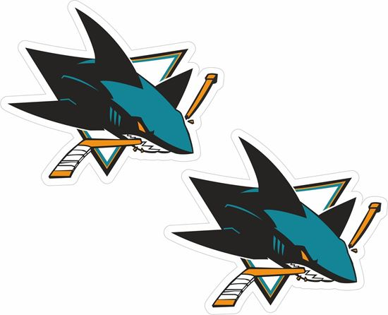 Picture of San Jose Sharks Decals / Stickers