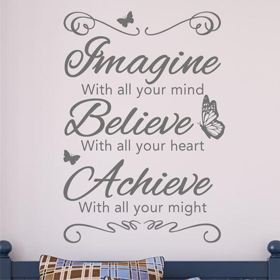 Picture of Imagine, Believe, Achieve Wall Art sticker