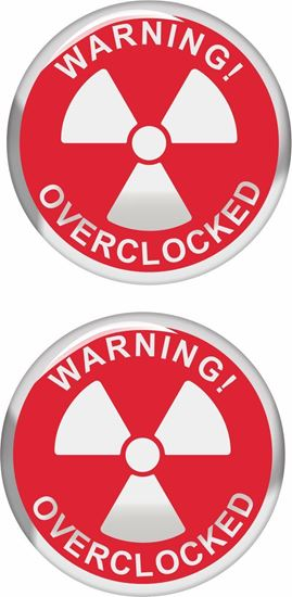 Picture of Warning overclocked Gel Badges