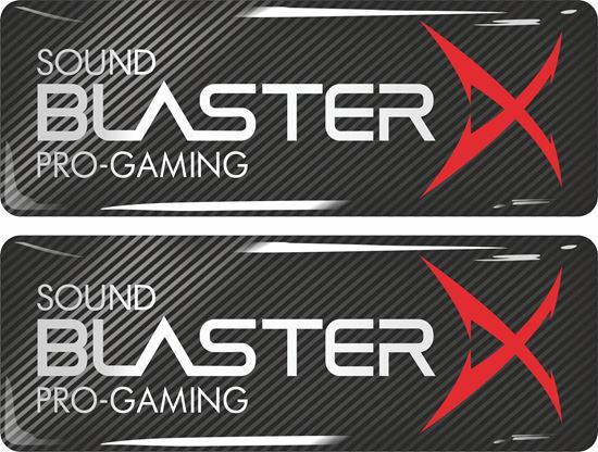 Picture of Sound Blaster X Gel Badges