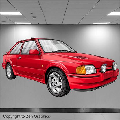 Picture of Ford Escort Series 2 RS Turbo Wall Art sticker (full colour)