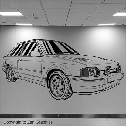 Picture of Ford Escort Series 2 RS Turbo Wall Art sticker
