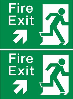 Picture of Fire Exit Decals / Stickers