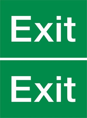 Picture of Exit Decals / Stickers