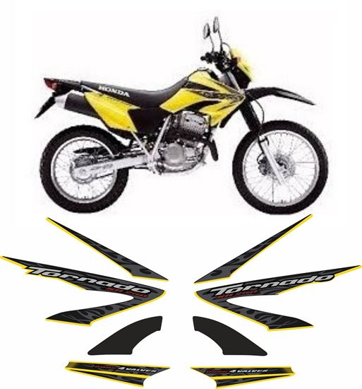 Picture of Honda XR 250 Tornado 2008 replacement Decals / Stickers