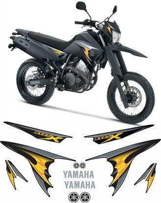 Picture of Yamaha XT250X 2009 - 2011 replacement Decals / Badges