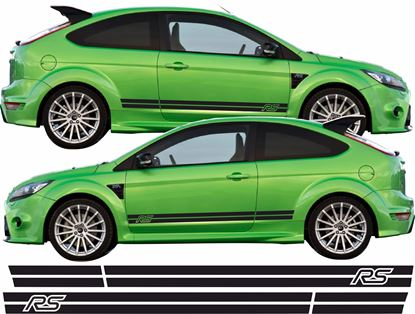 """Picture of Ford Focus RS MK2 Custom Design """"RS"""" side Stripes / Stickers"""