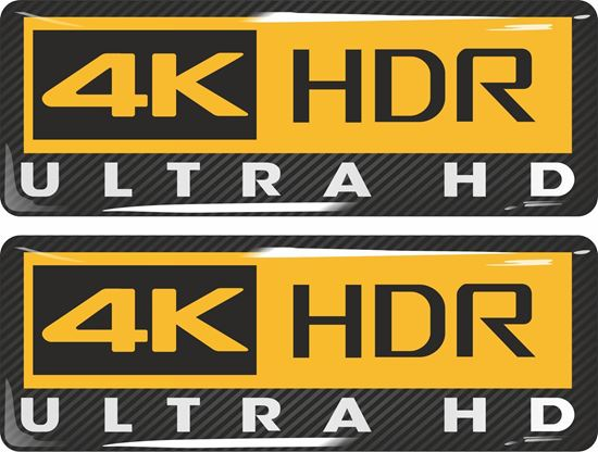Picture of 4K HDR Ultra HD Gel Badges