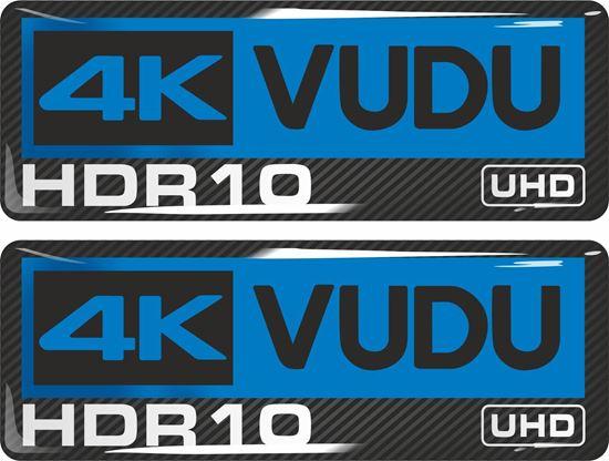 Picture of 4K VUDU HDR10 UHD  Gel Badges