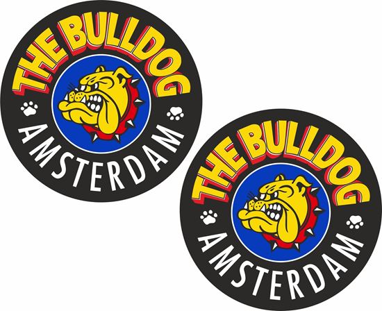 Picture of The Bulldog Amsterdam Decals / Stickers