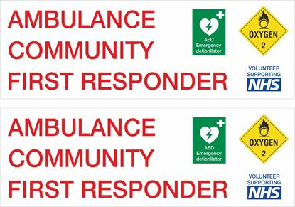 Picture of Ambulance Community First Responder Decals / Stickers