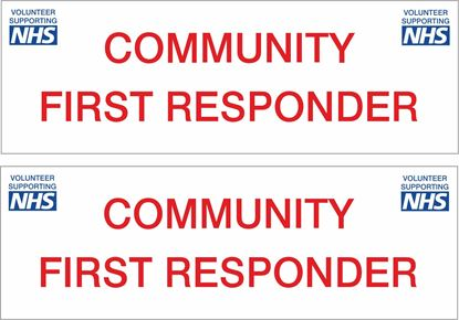 Picture of NHS Community First Responder Decals / Stickers
