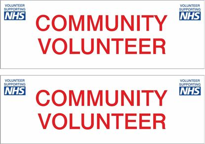 Picture of NHS Community Volunteer Decals / Stickers
