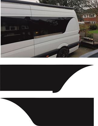 Picture of Mercedes Sprinter Long Wheel Base side Window Finisher Vinyl