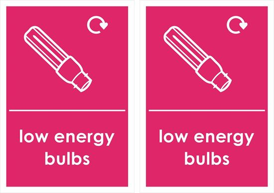 Picture of Low Energy Bulbs Decals / Stickers