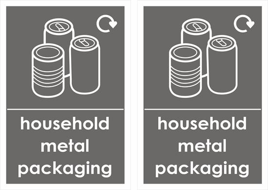 Picture of household metal packaging Decals / Stickers