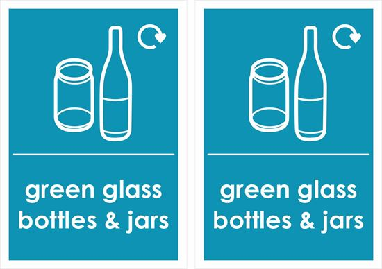 Picture of green glass bottles & jars Decals / Stickers