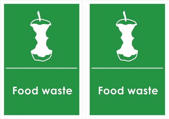 Picture of food waste Decals / Stickers