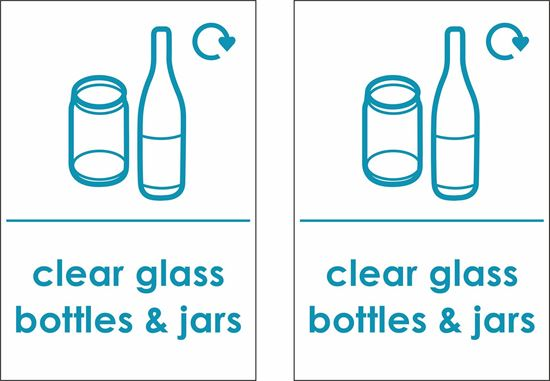 Picture of Clear Glass Bottles & Jars Decals / Stickers