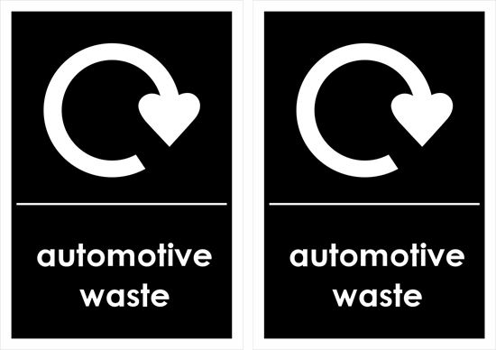 Picture of Automotive Waste Decals / Stickers