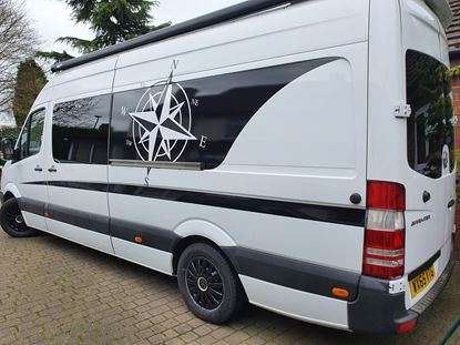 Picture of Mercedes Sprinter Long Wheel Base side Graphics kit