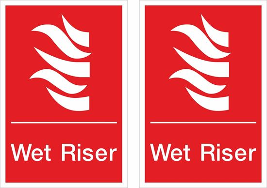 Picture of Wet Riser Decals / Stickers
