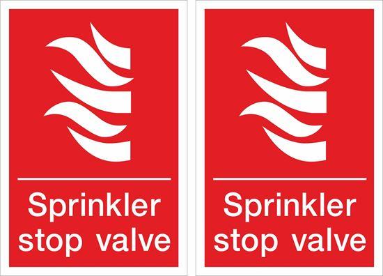 Picture of Sprinkler stop valve Decals / Stickers