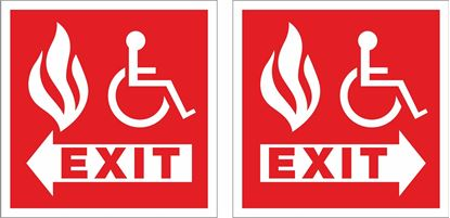 Picture of Disabled fire exit Decals / Stickers