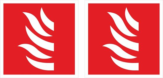 Picture of Fire symbol Decals / Stickers