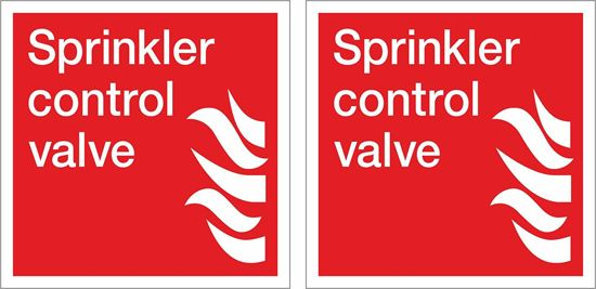 Picture of Sprinkler control valve Decals / Stickers