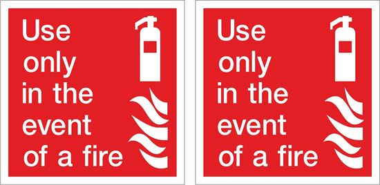Picture of Use only in the event of a fire Decals / Stickers