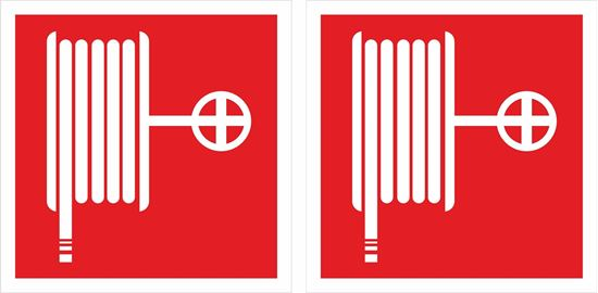 Picture of Fire hose Decals / Stickers