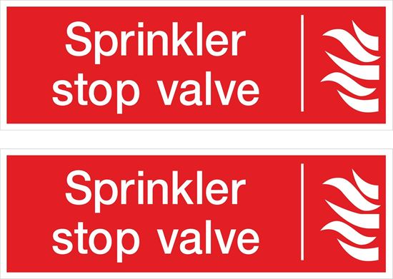 Picture of Sprinkler stop valve Decals / Stickers