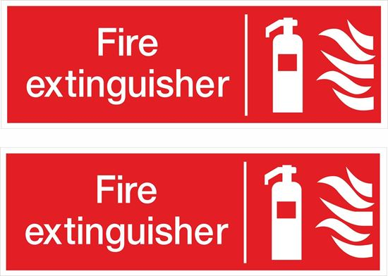 Picture of Fire extinguisher Decals / Stickers