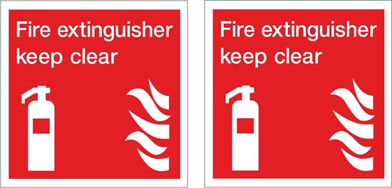 Picture of Fire extinguisher keep clear Decals / Stickers