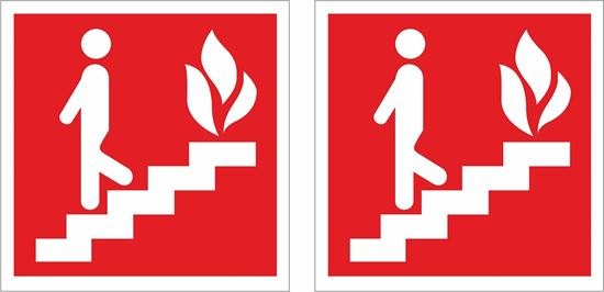 Picture of Fire exit stairs Decals / Stickers