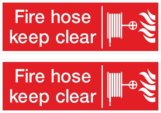 Picture of Fire hose keep clear Decals / Stickers