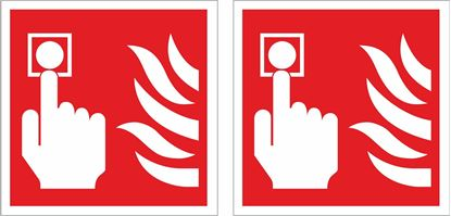Picture of Fire Alarm Button Decals / Stickers