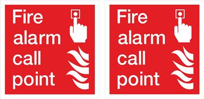 Picture of Fire alarm call point Decals / Stickers