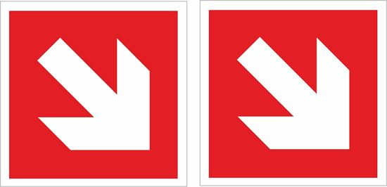 Picture of Fire exit arrow Decals / Stickers