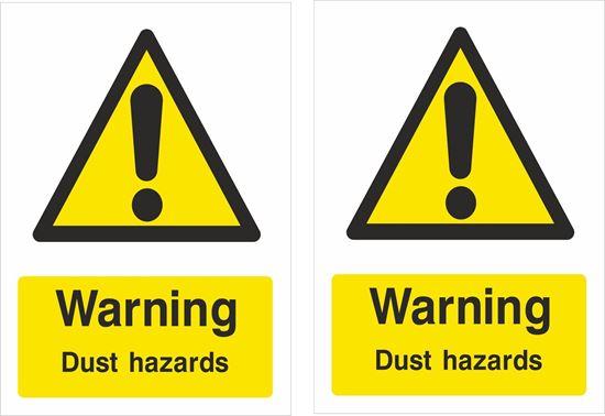 Picture of Warning Dust hazards Decals / Stickers