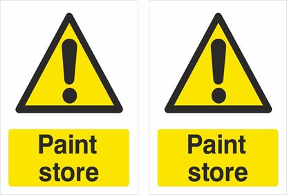 Picture of Caution Paint store Decals / Stickers