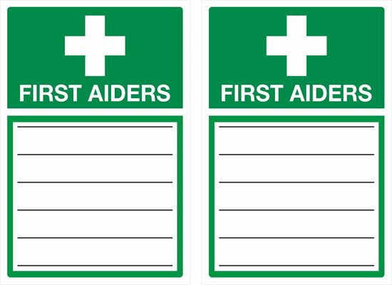 Picture of First aiders Decals / Stickers