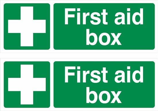 Picture of First aid box Decals / Stickers