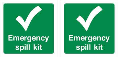 Picture of Emergency spill kit Decals / Stickers
