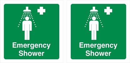 Picture of Emergency shower Decals / Stickers
