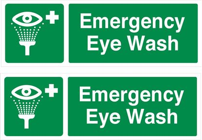 Picture of Emergency eye wash Decals / Stickers